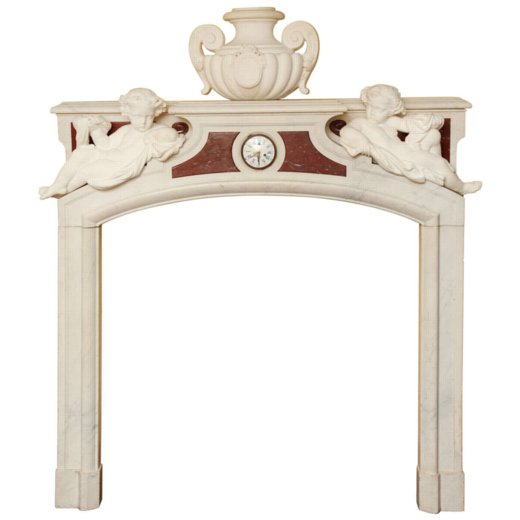 Magnificent Louis XVI Style 19th Century French Marble Fireplace Mantel Surround